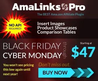 Amalinks Pro - Black Friday Cyber Monday Offer