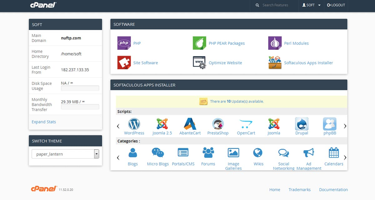 Softaculous for cPanel