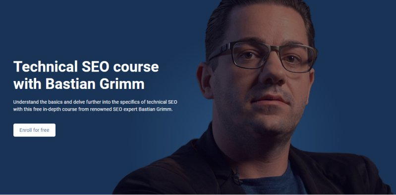 Technical SEO course with Bastian Grimm
