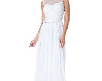 Rochie de mireasa Grace rochii simple mireasa cununia civila reducere ieftine 2
