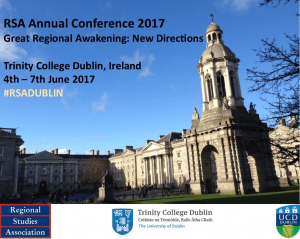 RSA Annual Conference 2017 Trinity College,Dublin, Ireland