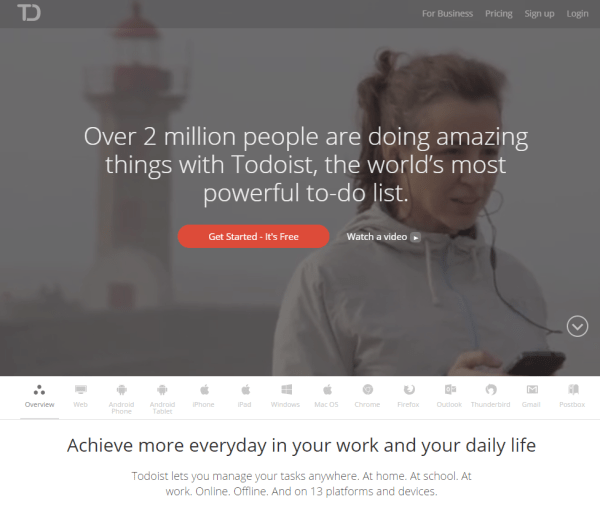 5 Productivity Tips And Tools For Lazy Content Marketers image productivity for content marketers todoist.png 600x510