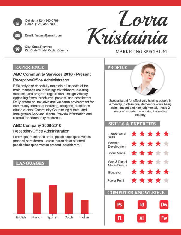 how to create a polished infographic resume infographic online