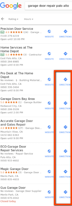 Markets with home service ads: Service-area businesses are coming back to the local results