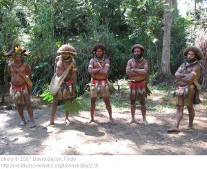 Huli tribes people Papua New Guinea