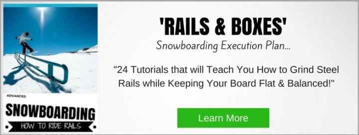 rails on a snowboard