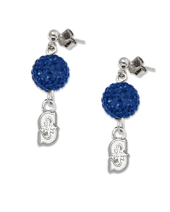 Seattle Mariners Ovation Crystal Earrings