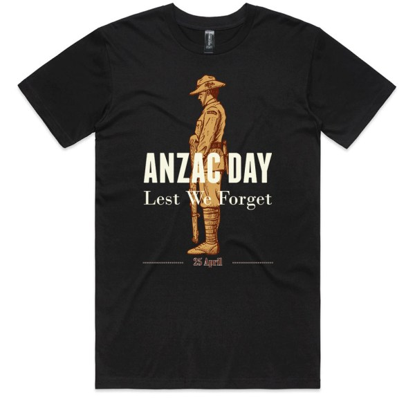 ANZAC Day Men Black T Shirts