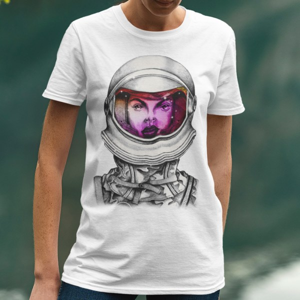 Astronaut Lady Space Dreaming Men Tee