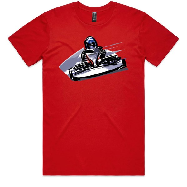 Go Cart Men Red T Shirts