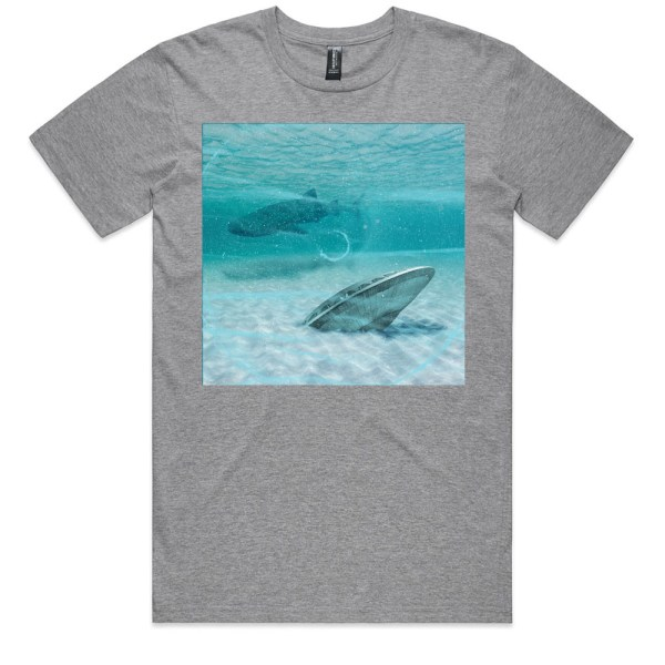 In the Triangle Men Grey Marle T Shirts