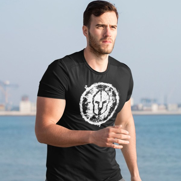 Spartan Grungy Men T Shirts