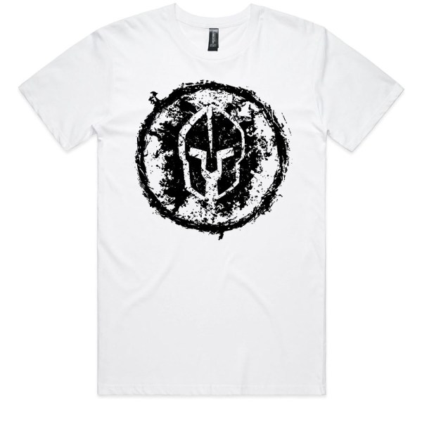 Spartan Grungy Men White T Shirts