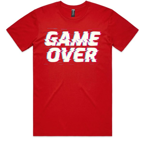 Game Over Men Red T Shirts