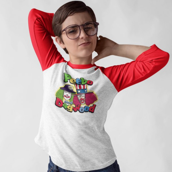 Peebo & Dagwood Ladies Raglan T Shirt