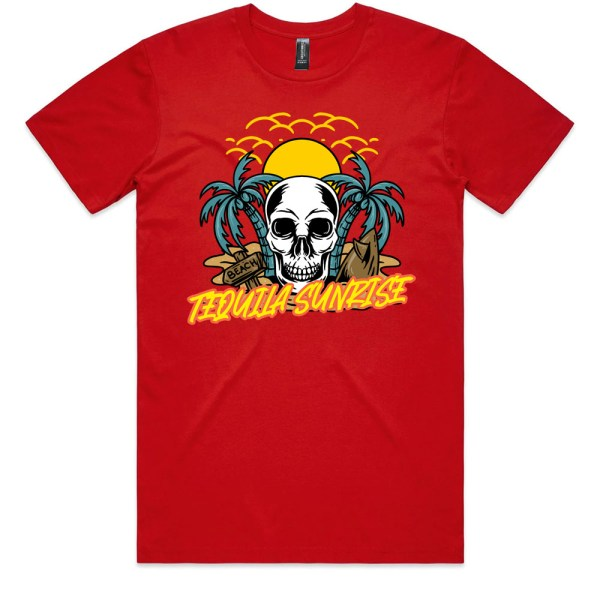 Tequila Sunrise Men Red T Shirts