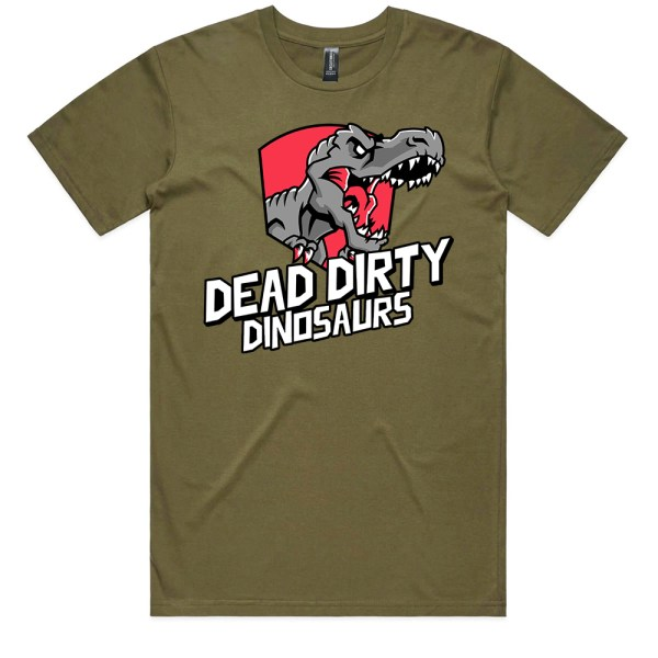 Dead Dirty Dinosaurs 001 Men Army T Shirts