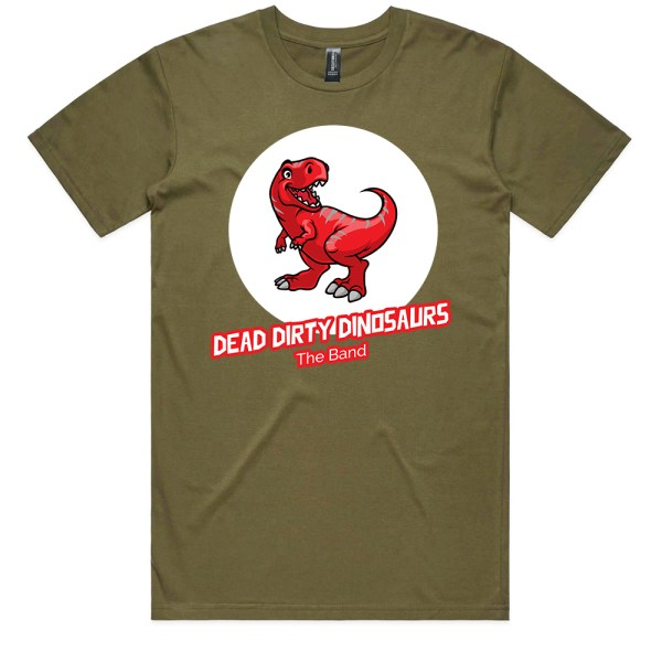 Dead Dirty Dinosaurs 005 Men Army T Shirts