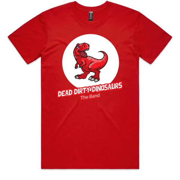 Dead Dirty Dinosaurs 005 Men Red T Shirts
