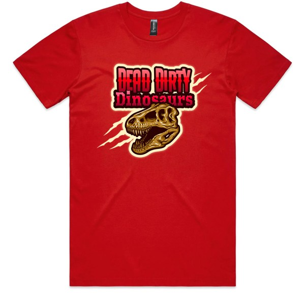 Dead Dirty Dinosaurs 008 Men Red T Shirts