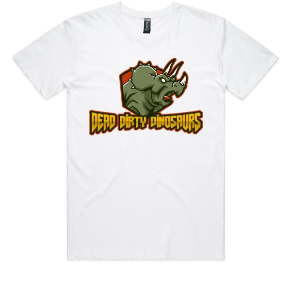 Dead Dirty Dinosaurs Triceratops Kids White T Shirts