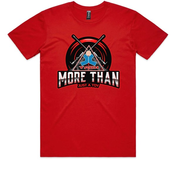 TAIDI More Than Just a Toy Crest Kids Red T Shirts