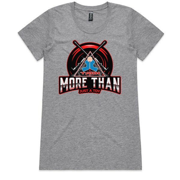 TAIDI More Than Just a Toy Crest Ladies Grey T Shirts