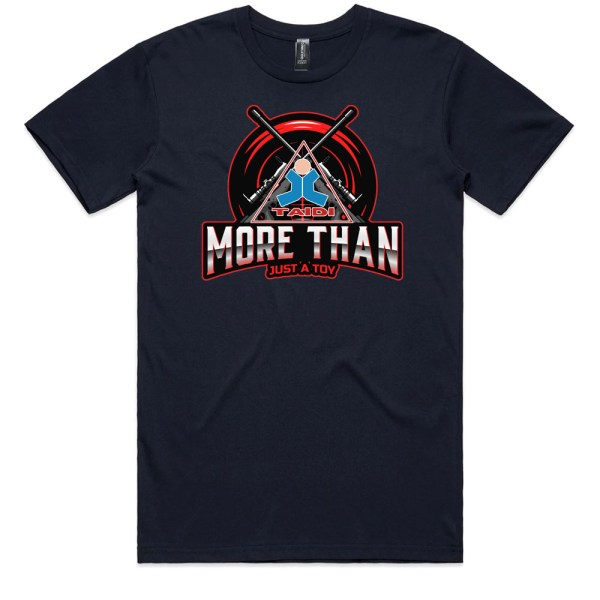 TAIDI More Than Just a Toy Crest Men Navy T Shirts