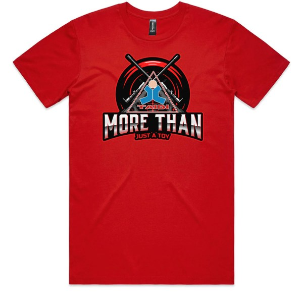 TAIDI More Than Just a Toy Crest Men RedT Shirts