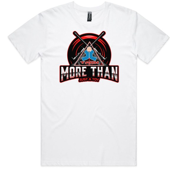 TAIDI More Than Just a Toy Crest Men WhiteT Shirts