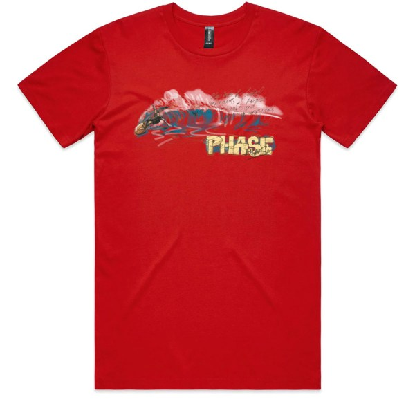 Wave Phase Men Red T Shirts