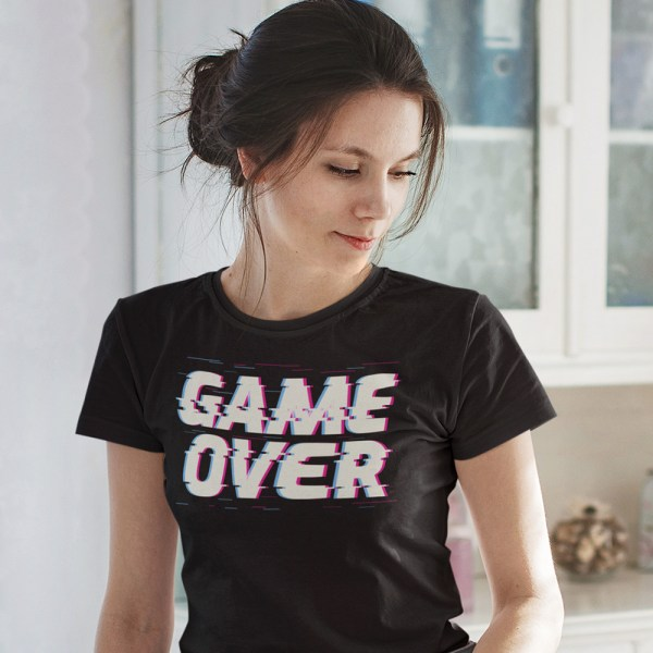 Game Over Ladies T Shirts
