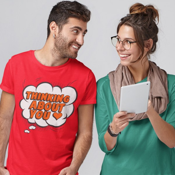 Thinking About You Men T Shirts