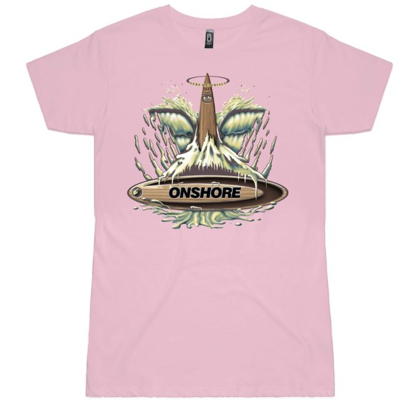 Onshore Surf Whale Tail Ladies T Shirt