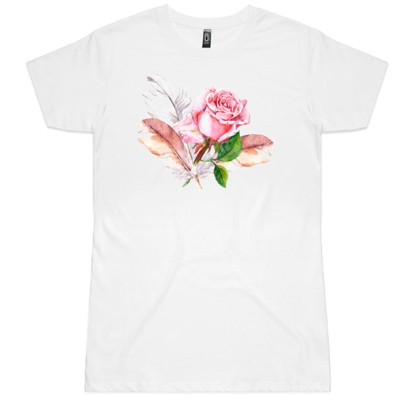 Rose and Feathers Ladies Tee