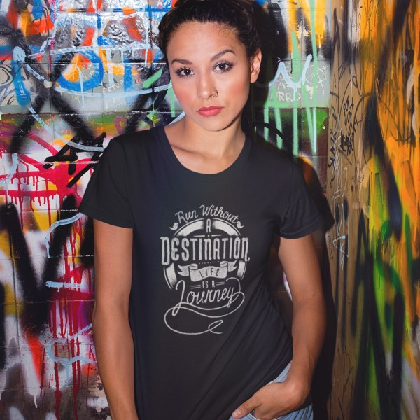 Run Without a Destination Ladies T Shirts
