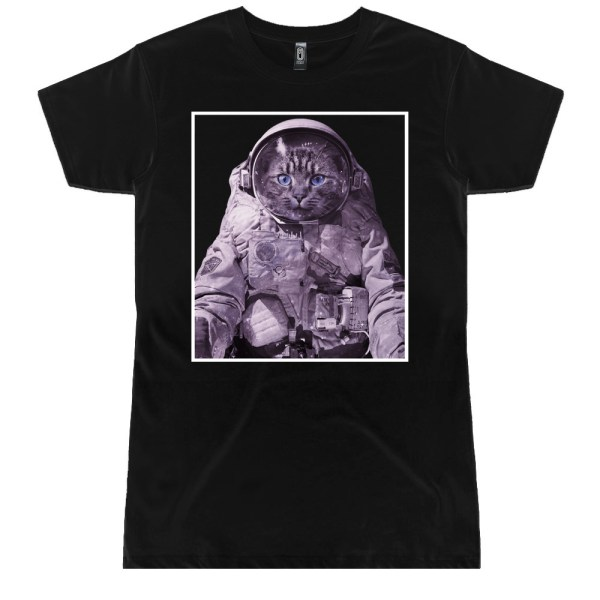 Space Kitty Ladies T Shirts