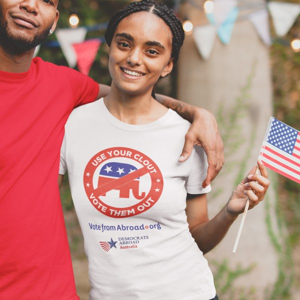Democrats Abroad Use Your Clout Ladies T Shirts