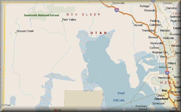 Box Elder County, Utah Map