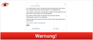 2019-07-12 Fake-Post Facebook Einbrecher Handy verloren
