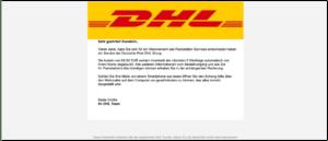 2019-08-12 DHL E-Mail Spam Ihre offene Rechnung