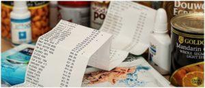 Kassenzettel Bon Einkauf Symbolbild