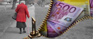 Rentner Senioren Geld Symbolbild