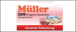 2020-01-07 Müller Drogerie Spam-Mails