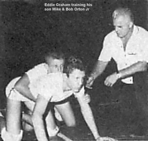 Eddie & son Mike with Bob Orton Jr