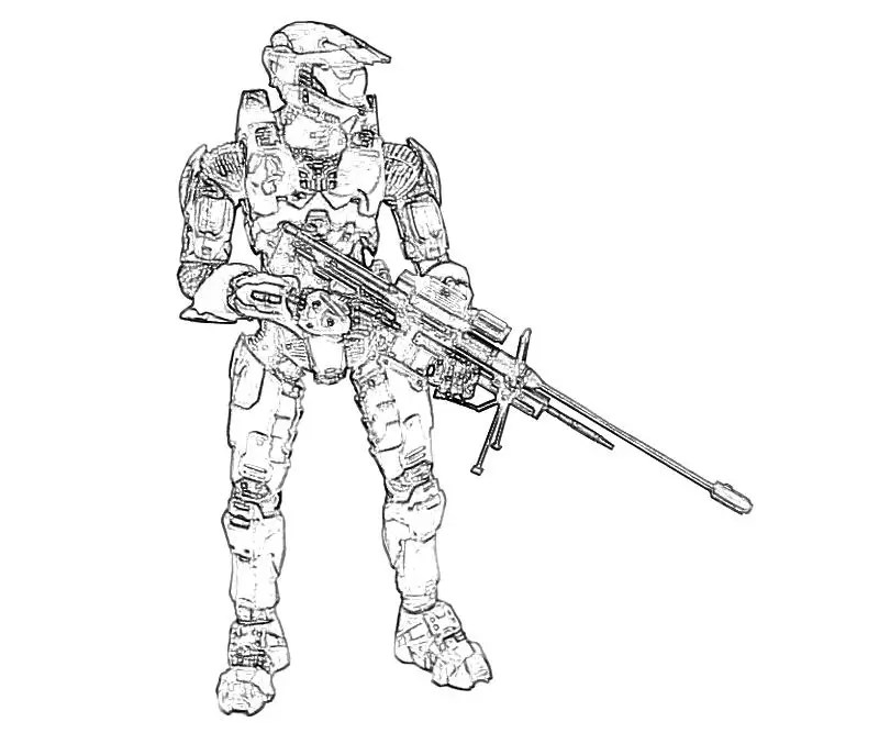 Nerf Sniper Gun Coloring Pages
