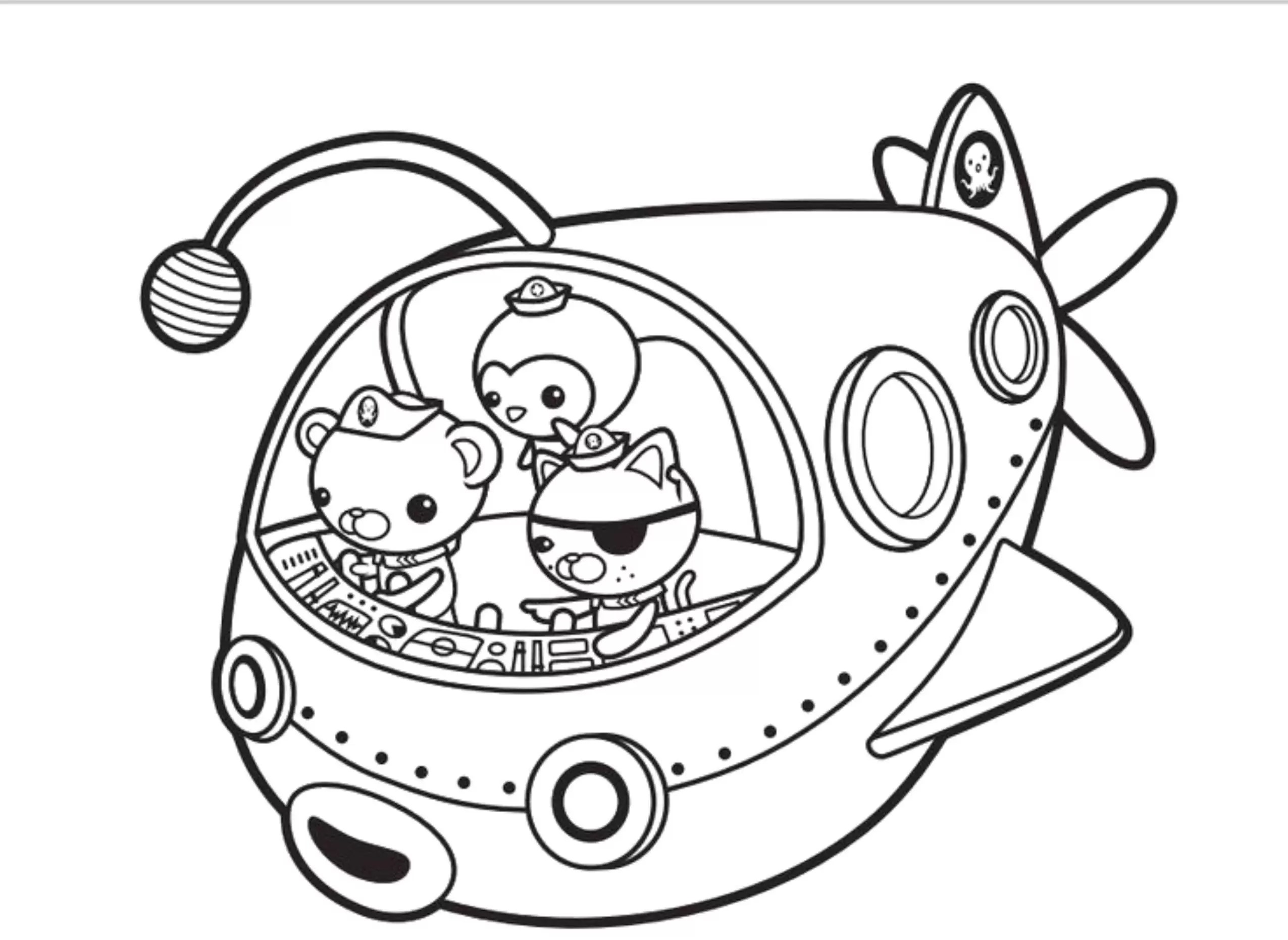 Octonauts Coloring Pages With Octonauts Coloring Pages