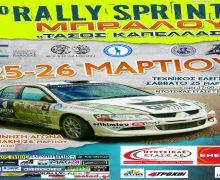"""Οι συμμετοχές του 8ου Rally Sprint Μπράλου """"Τάσος Καπέλλας"""""""