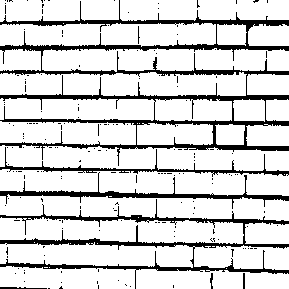 Brick Wall In Black And White Textures