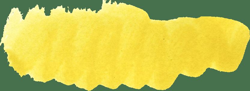 Yellow Paint Stroke Transparent